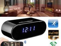 Wireless HD 720P Hidden Spy Camera Alarm Clock Security