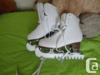 Quality women figure skates-used one season-in