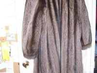 Woman's real Raccoon fur coat with hat. Great