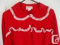Beautiful Red Woman's Flannel Full Length Nightie with