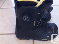 Worn once, a pair of Woman's size 8 K2 Snowboard Boots. for sale  British Columbia
