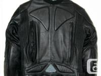 This jacket is high quality leather and in perfect