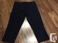 Navy blue. Good used condition. Size 8, straight leg
