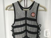Weight vest was $300 plus tax and extra weight was $50