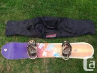 Female's Burton 149' Feelgood Snowboard. Includes Gold