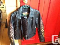 Size small women's Harley Davidson Ride Free Leather