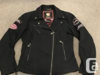 Very cool, heavy fabric motorcycle jacket - Indian