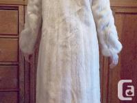 Women's platinum mink fur coat from Dworkin Furs in