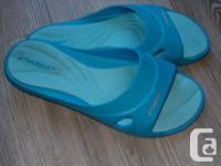 women's ,sandals , rider slide feet blue bathing shoes