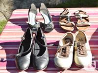 Aris Allen beige dance shoes size 7 - $5 Black dance