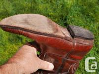 Authentic hand-made leather cowboy boots from Spain.