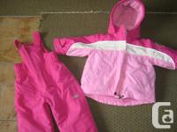 Girls PINK/White 18 months 3 in one Winter months Coat