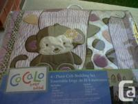 Offering my children baby crib set. Comes with