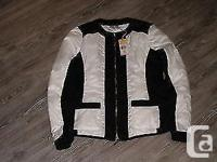women jacket black and white light weight , Nevada ,