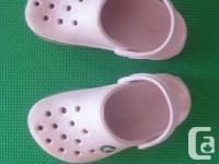 Girls Illumination Pink CROCS Slip on Sandals -