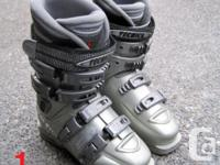 Three pair of women ski boots for sale. Ranging from