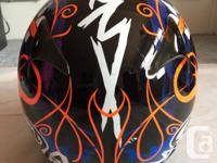 This helmet is in prestige condition. Comes with clear