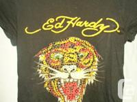 "ASSORTED BEAUTIFUL WOMEN'S ""ED HARDY"" DESIGNER T-SHIRTS"