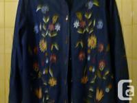 Size 2x Color Blue Made in India Brand Coldwater Creek