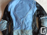 Jordan quality leather jacket has elbow & back padding.