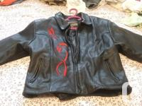 Worn about 6 times Very Heavy Leather Motorbike Jacket