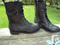 Brand New Women's Joe Fresh Mid Calf black lace up