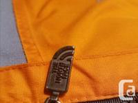 Orange/Grey, size L, with detachable fleece/Gortex