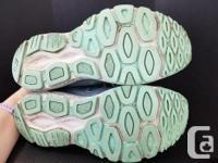 $25/pair NewBalance - gray and light blue - lightly