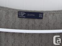 Beautiful Zara wrap cable knit sweater. Ladies size