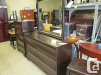 Solid wood and wood veneer bed room collection with