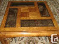 Solid Timber Coffee & & End Table in excellent