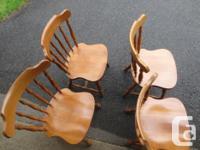 Wood Colonial Chairs Colonial Chairs 4 Colonial Chairs
