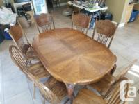 Solid Wood Dining Room Table 8 chairs total. This is a