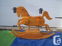 Solid Wood  LARGE ROCKING HORSE +2 Vintage ROCKING