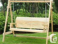 I can deliver or meet up Wood Outdoor Swing Chair