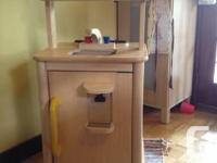 Wooden play kitchen. Got it second hand in February and