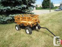 Strong Lumber & Steel With Rubber Tires Wagon -