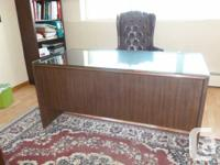 Smooth Timber workdesk typical dimension of 5 feet long