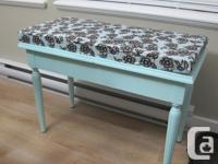 WOODEN BENCH, WITH STORAGE AND REMOVEABLE CUSHION