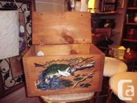 Wooden Box - Fishing Theme by Evans - Series IV To view