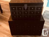 $60 for the set. These chests were handmade in India,