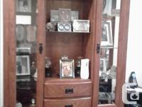 I have a real wood china hutch for sale, in excellent