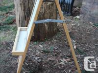 Here is that wooden kids paint and chalk easel you were