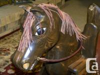 Hand carved wooden Rocking Horse( braun) Leader main,