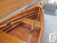CLASSIC ROW BOAT Beautiful wooden row boat. Quality