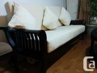 I have these items on sale: Wooden Sofa, Loveseat,