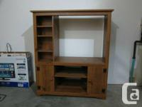 I have a wooden TV stand and chair available for pickup