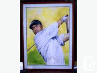 These are Original Watercolors of Jack Nicklaus, Tiger