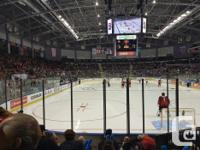 ICE HOCKEY Awesome seat, 6 rows up right behind the