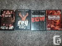 Hello I am selling my collection of Wrestling Dvd's. I